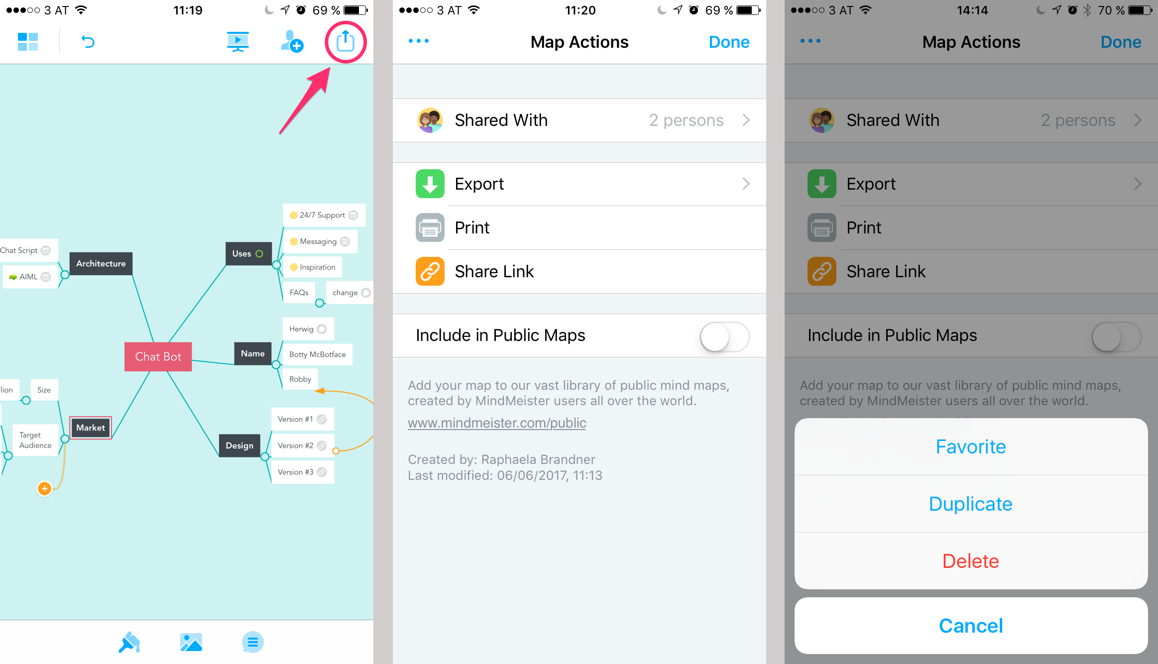 Add To Favorites add maps to your favorites (mobile app) – mindmeister help