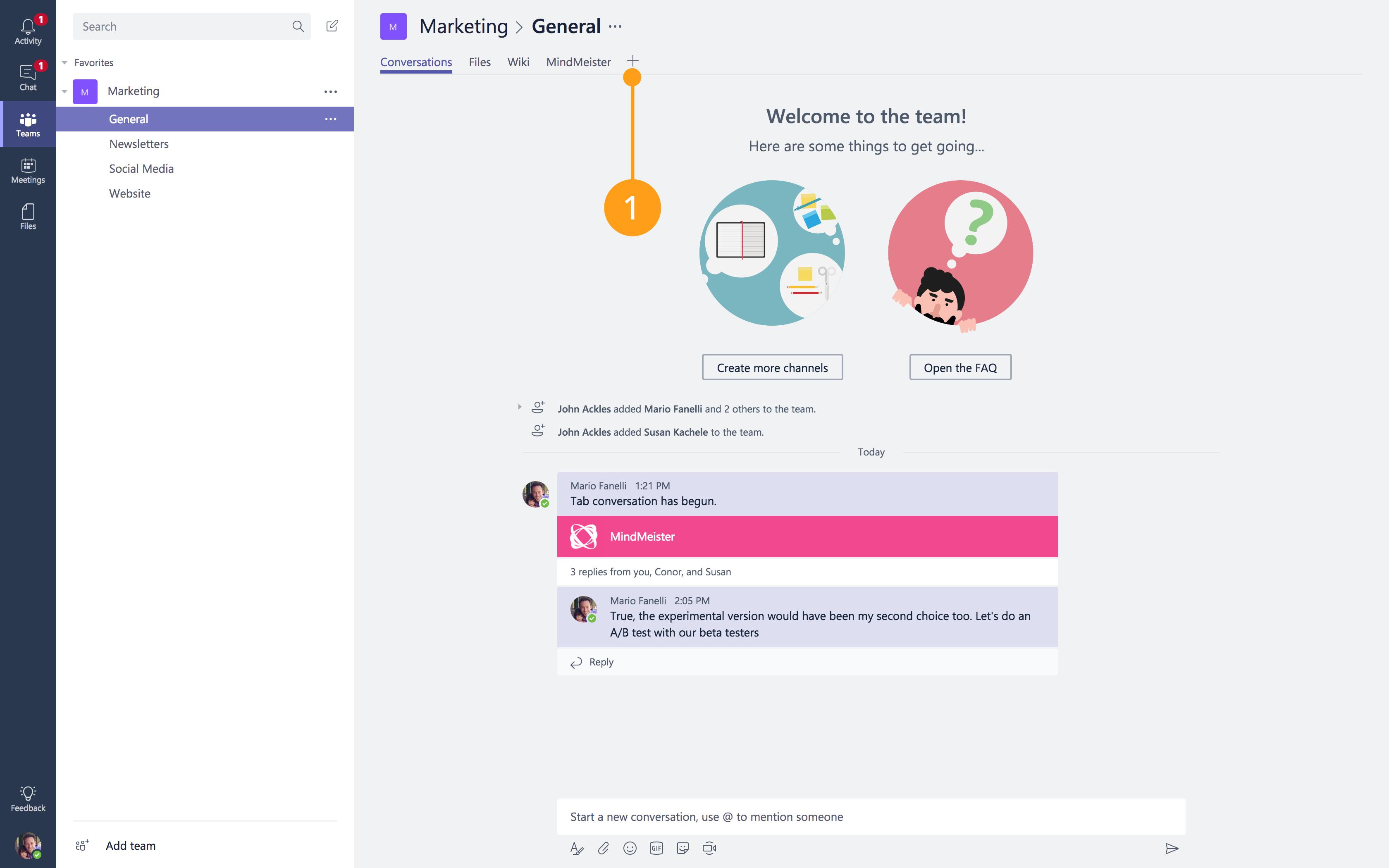 Microsoft Teams Integration – MindMeister Help